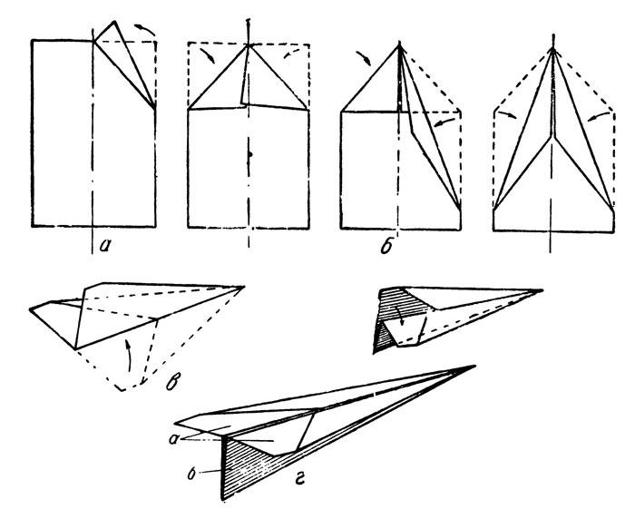 Схемы самолетов из бумаги которые летают