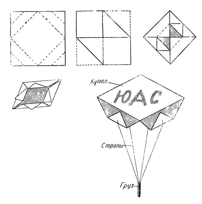 Как из бумаги сделать парашют пошаговая инструкция 54