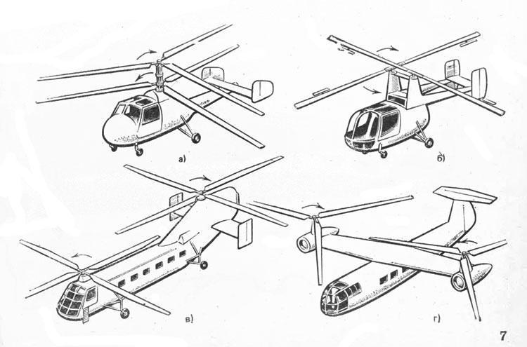 Вертолеты двухвинтовой схемы: