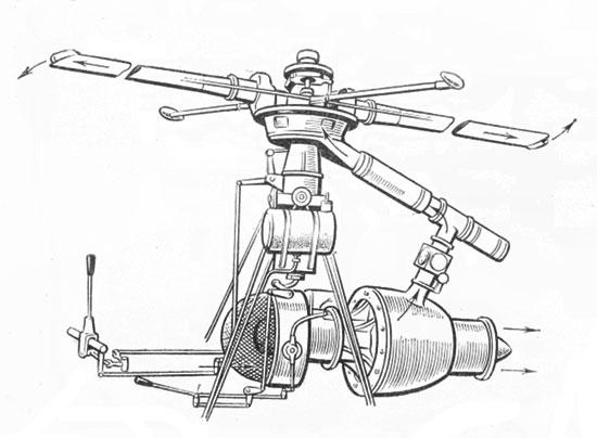 Схема реактивного привода